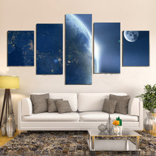 Load image into Gallery viewer, Earth Moon Ache Sunrise Space Universe Astronomy Canvas Prints Wall Art Home Decor - Canvas Print Sale