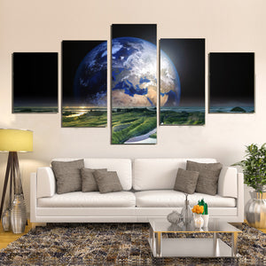 Earth Sea Space Nature Watts Solaris World Canvas Prints Wall Art Home Decor - Canvas Print Sale