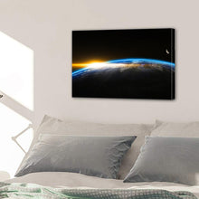 Load image into Gallery viewer, Outer Space Globe World Earth Sunrise Canvas Prints Wall Art Home Decor - Canvas Print Sale