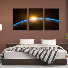 Load image into Gallery viewer, Space Earth Sunrise Canvas Prints Home Decor Wall Art - Canvas Print Sale