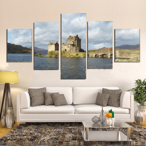 Scotland Eilean Donan Castle Canvas Prints Wall Art Home Decor - Canvas Print Sale