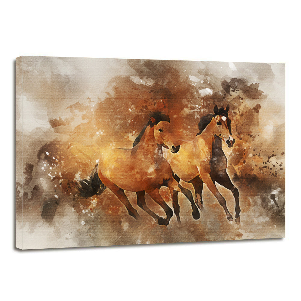 Equine Horse Running Canvas Prints Wall Art Home Decor - Canvas Print Sale