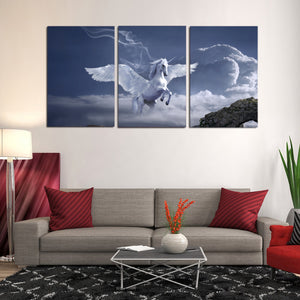 Pegasus Archway Fantasy Mystical Fairy Tales Horse Canvas Prints Home Decor Wall Art - Canvas Print Sale