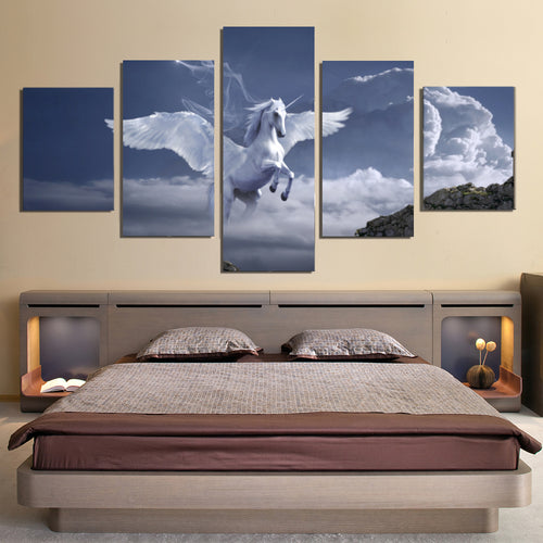 Pegasus Archway Fantasy Mystical Fairy Tales Horse Canvas Prints Home Decor Wall Art