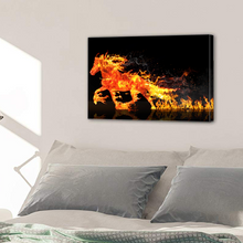 Load image into Gallery viewer, Fire Horse Running Canvas Prints Home Decor Wall Art - Canvas Print Sale