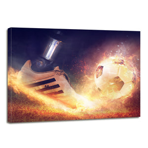 Rush Football Shoe Boot Sport Canvas Prints Wall Art Home Decor - Canvas Print Sale