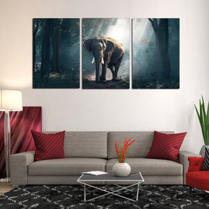 Forest Elephant Animals Large Mammal Canvas Prints Home Decor Wall Art - Canvas Print Sale
