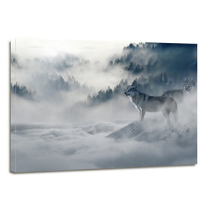 Forest Wolve Wintry Canvas Prints Home Decor Wall Art - Canvas Print Sale