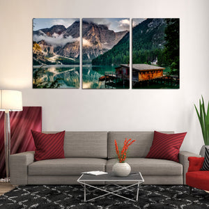 Italy Pragser Wildsee Canvas Prints Wall Art Home Decor - Canvas Print Sale