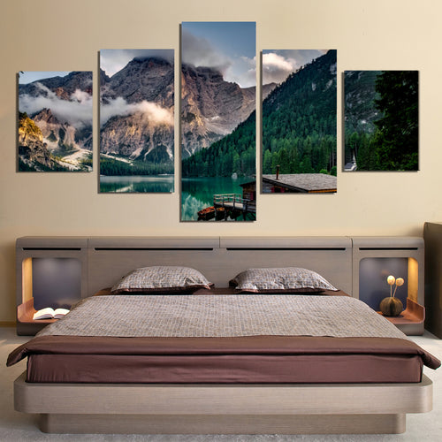 Italy Pragser Wildsee Canvas Prints Wall Art Home Decor