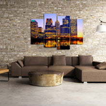 Load image into Gallery viewer, London City Night Lights Buildings River Reflection Canvas Prints - Canvas Print Sale