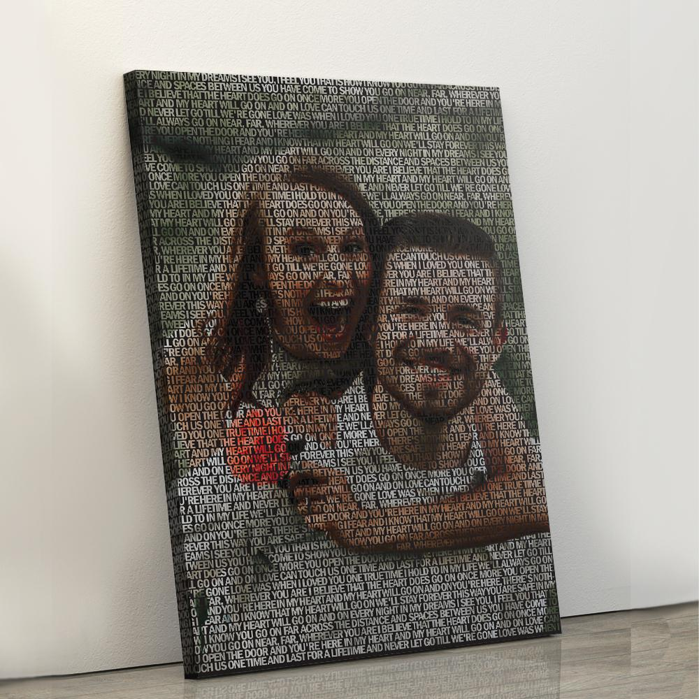 Custom Photo And Song Lyric Canvas Prints Portrait - Canvas Print Sale