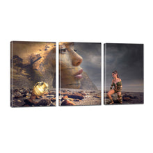 Load image into Gallery viewer, Mystical Beach Woman Fantasy Rock Treasure Vase Canvas Prints Wall Art Home Decor - Canvas Print Sale