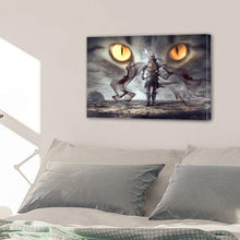 Load image into Gallery viewer, Fantasy Warrior Mystical Eyes Smoke Gloomy Man Canvas Prints Wall Art Home Decor - Canvas Print Sale