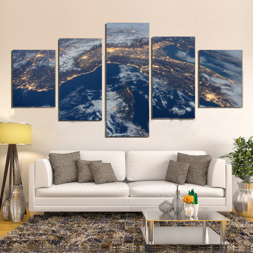 International Space Station View Night Earth Canvas Prints Home Decor Wall Art - Canvas Print Sale