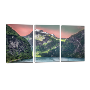 Norway Fjords Mountain Sea Canvas Prints Wall Art - Canvas Print Sale