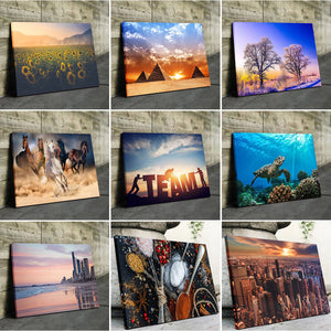 8 Photo Collage Canvas Landscape - Canvas Print Sale
