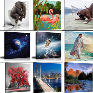 9 Photos Collage Canvas Square - Canvas Print Sale