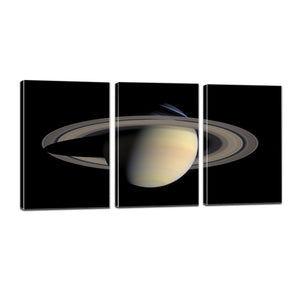 Planet Saturn Rings Solar System Aurora Canvas Prints Home Decor Wall Art - Canvas Print Sale