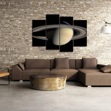 Load image into Gallery viewer, Planet Saturn Rings Solar System Aurora Canvas Prints Home Decor Wall Art - Canvas Print Sale