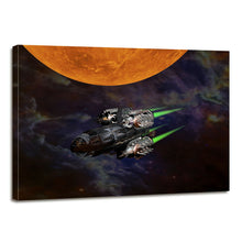 Load image into Gallery viewer, Science Fiction Space Sunrise Canvas Prints Home Decor Wall Art - Canvas Print Sale