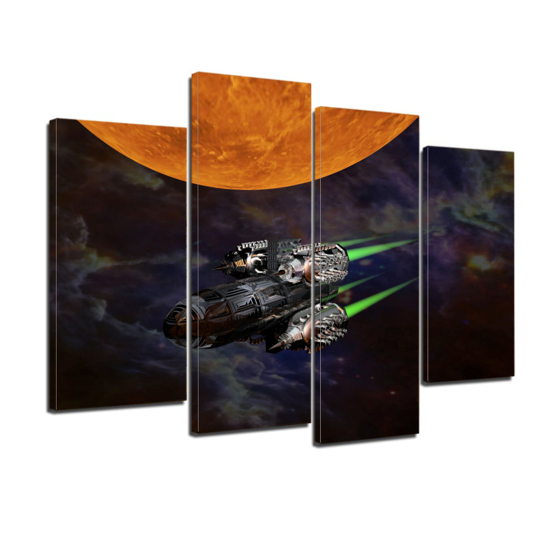 Science Fiction Space Sunrise Canvas Prints Home Decor Wall Art Personalised Canvas Art