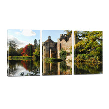 Load image into Gallery viewer, Scotney Castle Kent Sussex Medieval England Canvas Prints Wall Art Home Decor - Canvas Print Sale