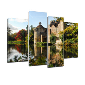 Scotney Castle Kent Sussex Medieval England Canvas Prints Wall Art Home Decor - Canvas Print Sale