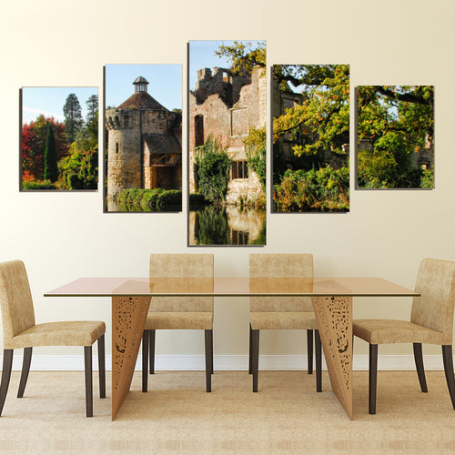 Scotney Castle Kent Sussex Medieval England Canvas Prints Wall Art Home Decor