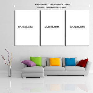 "3 Piece Canvas 36"" x 72"" (90x180cm)"