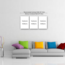 "Load image into Gallery viewer, 3 Piece Canvas 24"" x 48"" (60x120cm) - Canvas Print Sale"