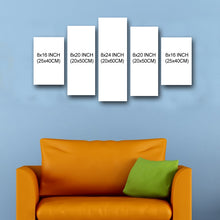 "Load image into Gallery viewer, 5 Piece  Canvas 24"" x 44"" (60x110cm) - Canvas Print Sale"