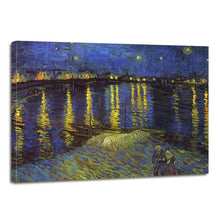 Load image into Gallery viewer, Vincent Van Gogh Starry Night Over the Rhone Canvas Prints Home Decor Wall Art - Canvas Print Sale