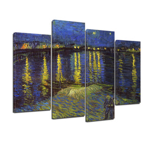 Vincent Van Gogh Starry Night Over the Rhone Canvas Prints Home Decor Wall Art - Canvas Print Sale