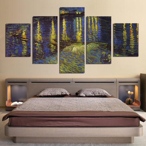 Vincent Van Gogh Starry Night Over the Rhone Canvas Prints Home Decor Wall Art