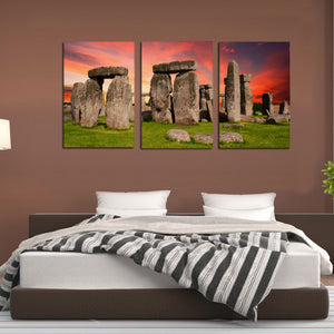 Stonehenge Monument Prehistoric Salisbury Britain Canvas Prints Wall Art - Canvas Print Sale