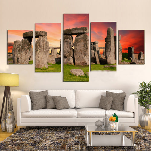 Stonehenge Monument Prehistoric Salisbury Britain Canvas Prints Wall Art