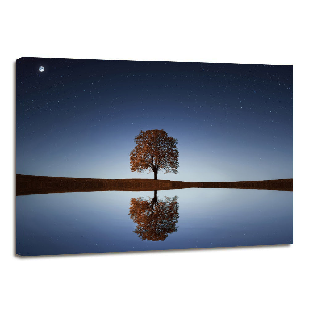Tree Lake Canvas Prints Wall Art Home Decor - Canvas Print Sale