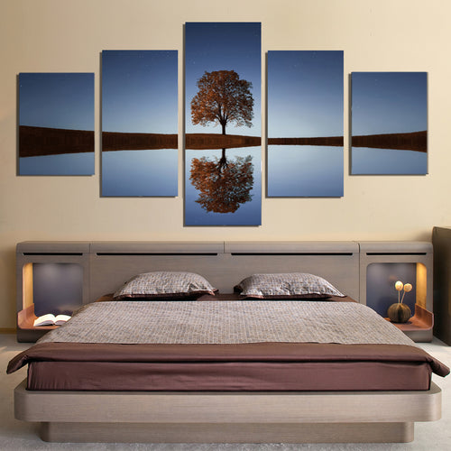 Tree Lake Canvas Prints Wall Art Home Decor