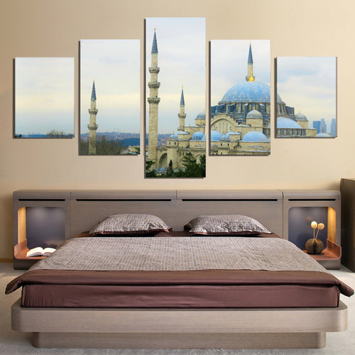 Istanbul Cami Islam Turkey Dome City Canvas Prints Wall Art Home Decor - Canvas Print Sale