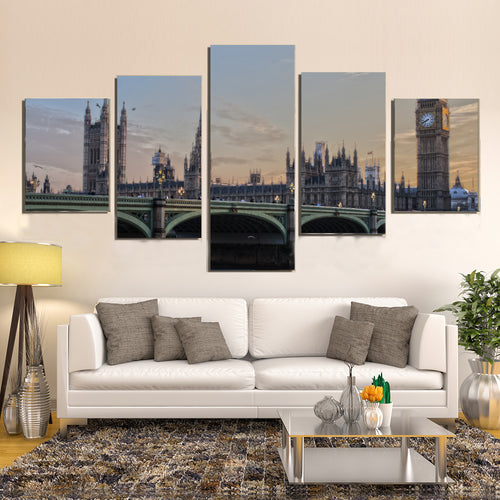 UK Parliament London England Ben Ben Westminster Canvas Prints Wall Art Home Decor - Canvas Print Sale
