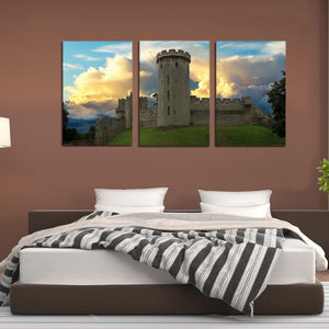 Warwick Castle Fort Heritage Tower Canvas Prints Wall Art Home Decor - Canvas Print Sale