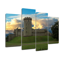 Load image into Gallery viewer, Warwick Castle Fort Heritage Tower Canvas Prints Wall Art Home Decor - Canvas Print Sale