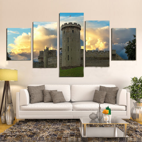Warwick Castle Fort Heritage Tower Canvas Prints Wall Art Home Decor