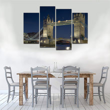Load image into Gallery viewer, London Tower Bridge Night Canvas Prints - Canvas Print Sale