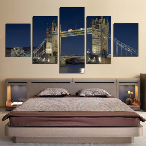 London Tower Bridge Night Canvas Prints