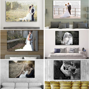 Lyrics Vows Words Canvas Art Anniversary Gift - Canvas Print Sale