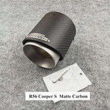 Load image into Gallery viewer, 1 Pcs Top Quality Carbon Exhaust Tail Pipe For MINI Cooper S R55 R56 R57 R58 R59 R60 R61 F54 F56 F57 F60 JCW