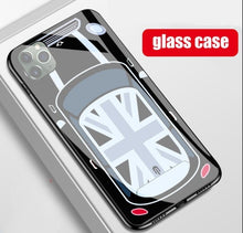 Load image into Gallery viewer, Mini Cooper Glass Phone Case for iPhone