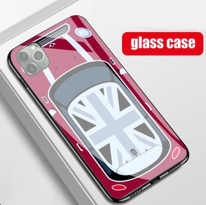 Mini Cooper Glass Phone Case for iPhone